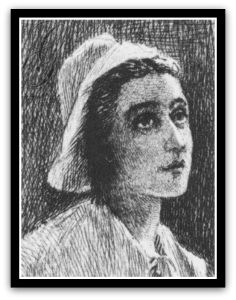 Puritan charcoal drawing