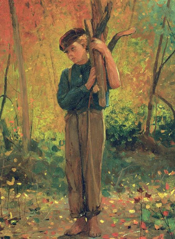 Winslow Homer Boy Holding Logs